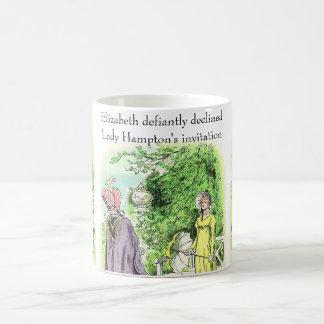 Jane Austen's Heroine Wields Her Handy Parasol.... Basic White Mug