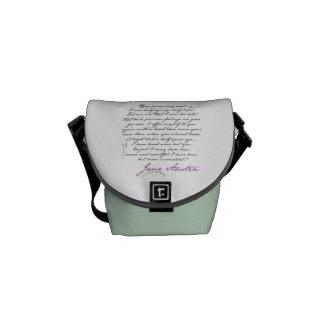 Jane Austen's Persuasion Quote #1 Messenger Bag