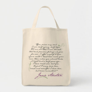 Jane Austen's Persuasion Quote #1 Tote Bag