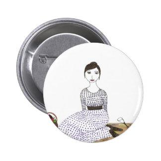 Jane Austen's Picnic 6 Cm Round Badge