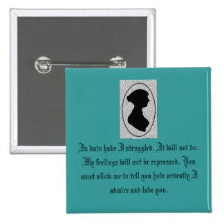 Jane Austen's Pride 15 Cm Square Badge