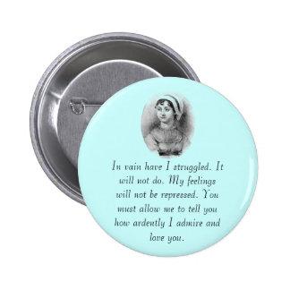 Jane Austen's Pride 6 Cm Round Badge