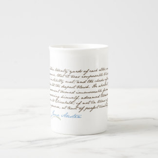 Jane Austen's Pride & Prejudice Quote #1 Tea Cup