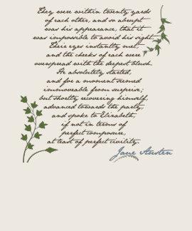 Jane Austen's Pride & Prejudice Quote #1 T-shirt