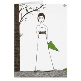 Jane Austen's rice Portrait Greeting Card
