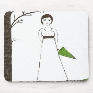 Jane Austen's rice Portrait Mouse Pad