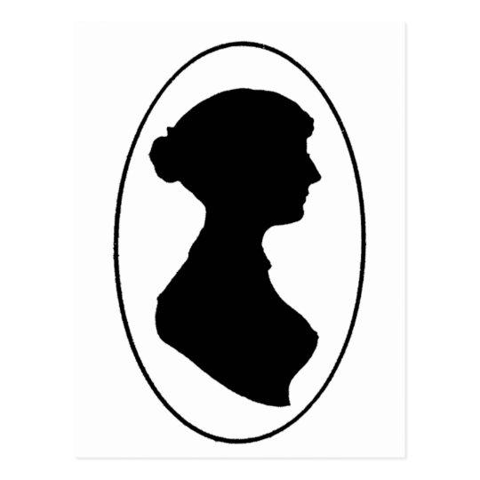 Jane Austen's Silhouette Postcard