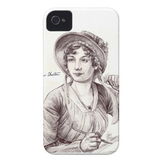 Jane Austin with a Smile iPhone 4 Case-Mate Case