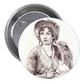 Jane Austin with a Smile large Button