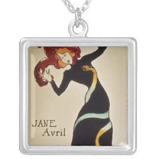 Jane Avril  1899 Silver Plated Necklace