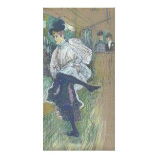 Jane Avril Dancing by Henri de Toulouse-Lautrec Photo Card