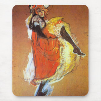 Jane Avril Dancing by Toulouse-Lautrec Mouse Pads