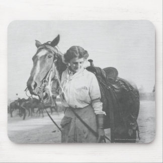 Jane Bernoudi and her horse Mouse Pad