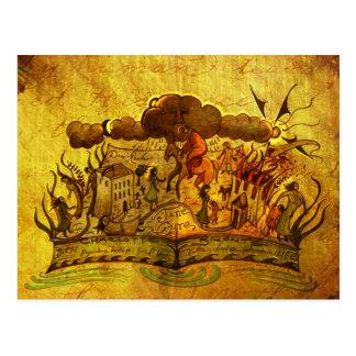 'Jane Eyre' book Postcard