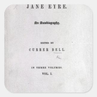 Jane Eyre' Square Sticker
