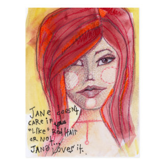 Jane Likes Red Hair Postcard
