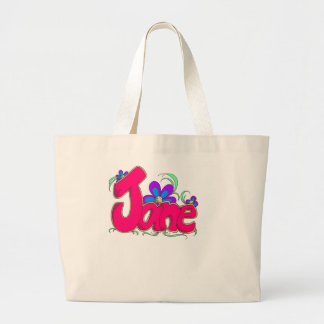 """""""Jane"""" personalized items for her Jumbo Tote Bag"""
