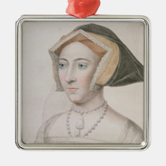 Jane Seymour (c.1509-37) engraved by Francesco Bar Silver-Colored Square Decoration