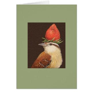 Jane the wren card