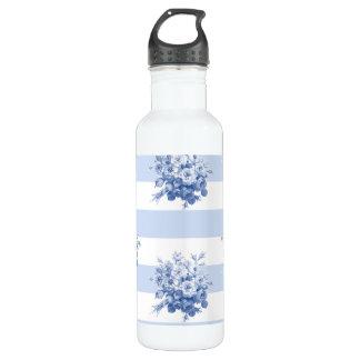 Jane's Rose Bouquet blueberry stripe 24 oz water b 710 Ml Water Bottle