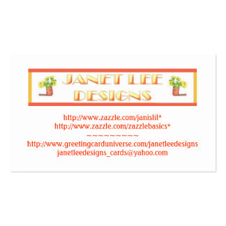 Janet Lee Designs-Business Card Business Card Templates