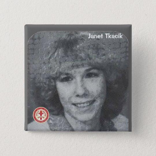 Janet Tkacik 15 Cm Square Badge