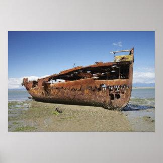 Janie Seddon Shipwreck Motueka Nelson Poster
