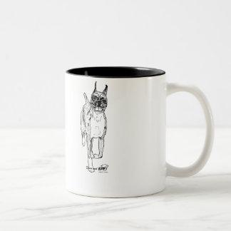 "Janina Brandão ""Down and Back"" Boxer Art Mugs"