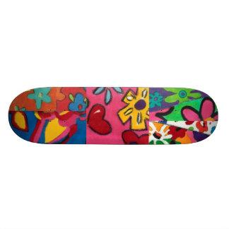 Janina's Floral Patchwork Skateboard