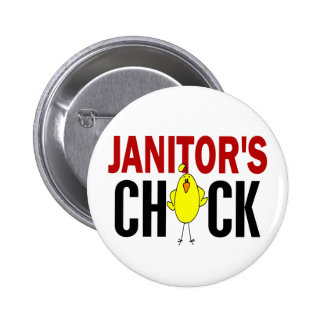 JANITOR'S CHICK 6 CM ROUND BADGE