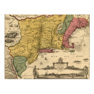 Jansson Visscher Map Postcard