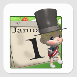January 1 sticker