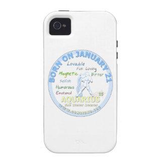 January 21st Birthday - Aquarius iPhone 4 Case