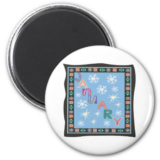 January 2 6 cm round magnet