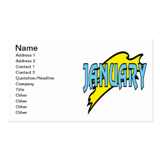 January 4 pack of standard business cards