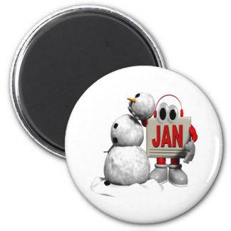 January 6 6 cm round magnet