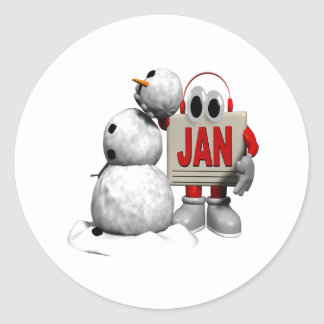 January 6 round sticker