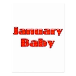 January Baby Postcard