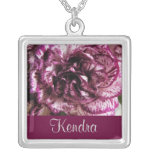 JANUARY Birth Flower - Carnation Necklace