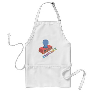 January Due Date Stamp Apron