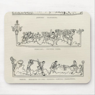 January, February, March April, The Julius Mouse Mat