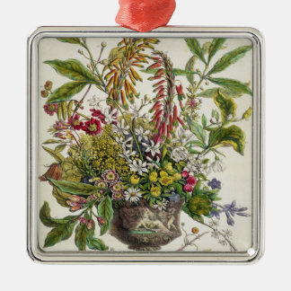 January, from `Twelve Months of Flowers' Christmas Ornament