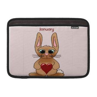 January Rabbit Birthstone Garnet MacBook Sleeves