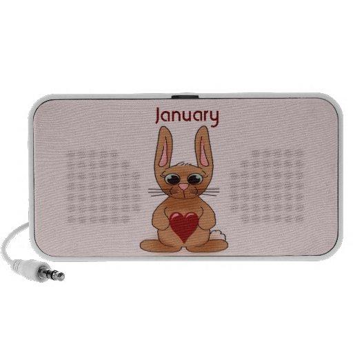 January Rabbit Birthstone Garnet Speakers