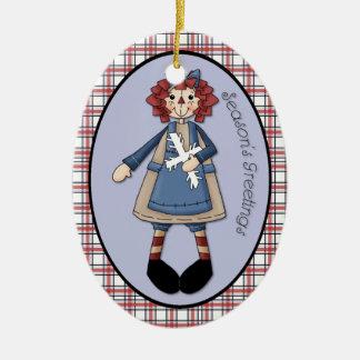 "January Raggedy Ann ""Season's Greetings"" Ornament"