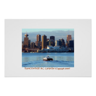 January Sunrise over Vancouver Poster