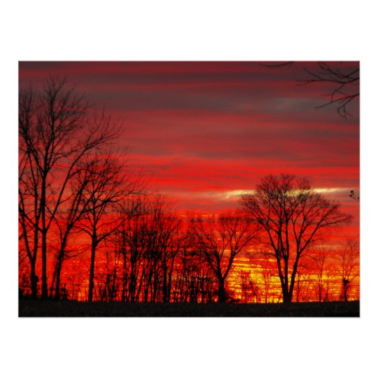 January Sunset Poster