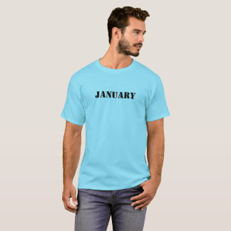 January T-shirt, special month t-shirt