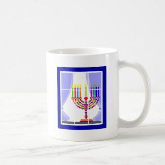 Janucá Hanukkah Basic White Mug