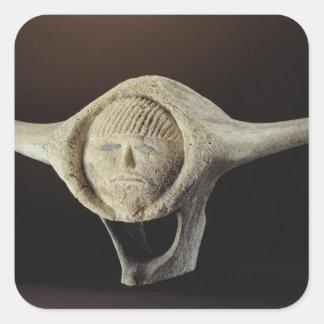 Janus Head from Cape Dorset Square Stickers